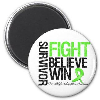 Non Hodgkins Lymphoma Survivor Fight Believe Win M 2 Inch Round Magnet