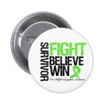 Non Hodgkins Lymphoma Survivor Fight Believe Win M Pinback Button