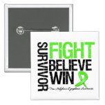Non Hodgkins Lymphoma Survivor Fight Believe Win M Pinback Buttons