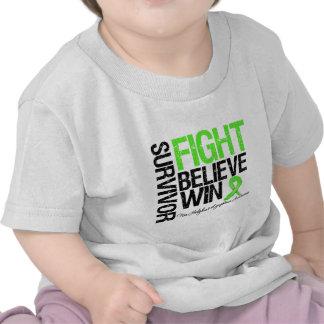 Non Hodgkins Lymphoma Survivor Fight Believe Win M T Shirts