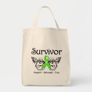 Non-Hodgkins Lymphoma Survivor Floral Deco Tote Bags
