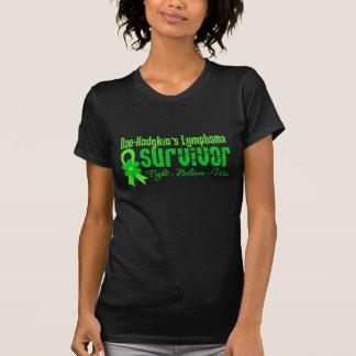 Non Hodgkins Lymphoma Survivor Flower Ribbon T Shirts