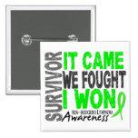 Non-Hodgkins Lymphoma Survivor It Came We Fought Button
