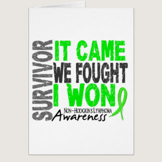 Non-Hodgkins Lymphoma Survivor It Came We Fought Card