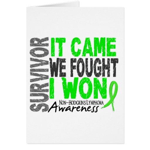 Non-Hodgkins Lymphoma Survivor It Came We Fought Card