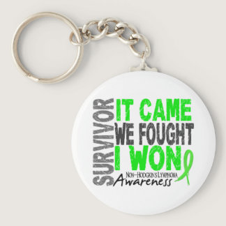 Non-Hodgkins Lymphoma Survivor It Came We Fought Keychain