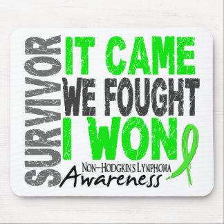 Non-Hodgkins Lymphoma Survivor It Came We Fought Mouse Mats