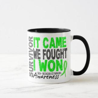 Non-Hodgkins Lymphoma Survivor It Came We Fought Mug