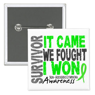 Non-Hodgkins Lymphoma Survivor It Came We Fought Pinback Button