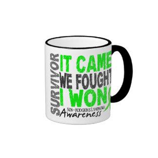 Non-Hodgkins Lymphoma Survivor It Came We Fought Ringer Coffee Mug