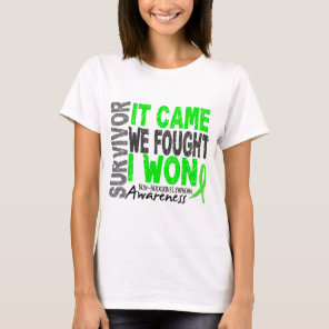 Non-Hodgkins Lymphoma Survivor It Came We Fought T-Shirt