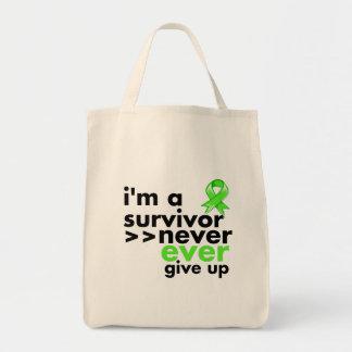 Non-Hodgkins Lymphoma Survivor Never Give Up Canvas Bags