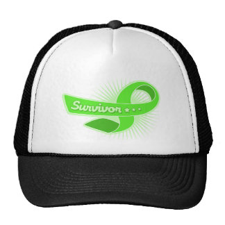 Non Hodgkins Lymphoma Survivor Ribbon Mesh Hats