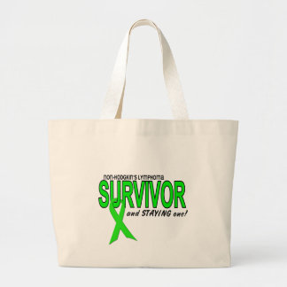 Non-Hodgkins Lymphoma Survivor & STAYING One! Jumbo Tote Bag