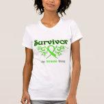 Non Hodgkins Lymphoma Survivor Tribal Ribbon T-shirts