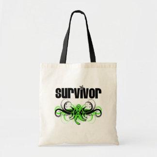 Non-Hodgkins Lymphoma Survivor Wing Emblem Budget Tote Bag