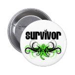 Non-Hodgkins Lymphoma Survivor Wing Emblem Pinback Buttons