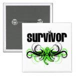 Non-Hodgkins Lymphoma Survivor Wing Emblem Buttons