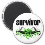 Non-Hodgkins Lymphoma Survivor Wing Emblem Fridge Magnets
