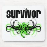 Non-Hodgkins Lymphoma Survivor Wing Emblem Mouse Pads