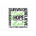 Non Hodgkins Lymphoma Survivors Motto Postcard