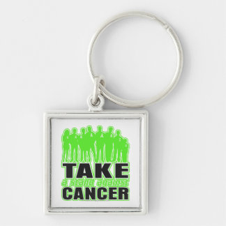 Non-Hodgkins Lymphoma -Take A Stand Against Cancer Silver-Colored Square Keychain