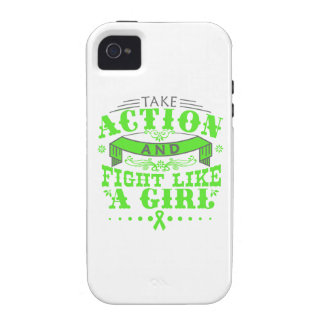 Non-Hodgkins Lymphoma Take Action Fight Like A Gir Case-Mate iPhone 4 Case