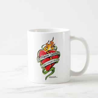 Non-Hodgkins Lymphoma Tattoo Heart Coffee Mug