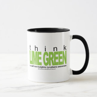 Non-Hodgkins Lymphoma Think Lime Green Mug