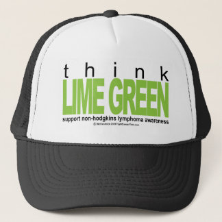 Non-Hodgkins Lymphoma Think Lime Green Trucker Hat