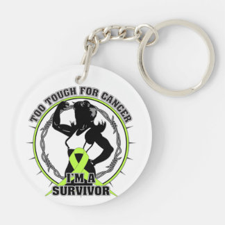 Non-Hodgkins Lymphoma Too Tough For Cancer Double-Sided Round Acrylic Keychain