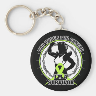 Non-Hodgkins Lymphoma Too Tough For Cancer Basic Round Button Keychain