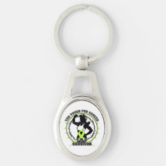 Non-Hodgkins Lymphoma Too Tough For Cancer Silver-Colored Oval Metal Keychain