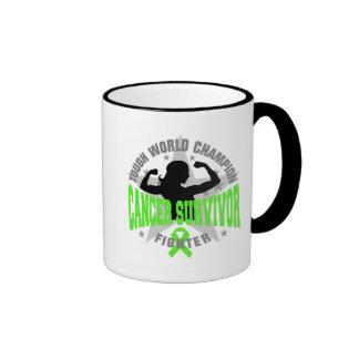 Non-Hodgkin's Lymphoma Tough Survivor Ringer Coffee Mug