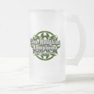 Non-Hodgkins Lymphoma Tribal Frosted Glass Beer Mug