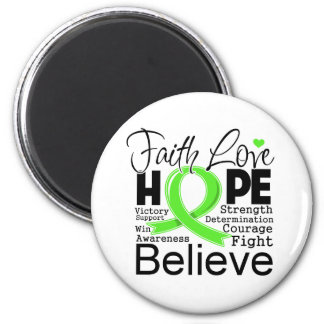 Non-Hodgkins Lymphoma Typographic Faith Love Hope Magnets