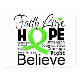 Non-Hodgkins Lymphoma Typographic Faith Love Hope Postcard