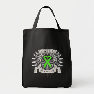 Non-Hodgkins Lymphoma Victory Canvas Bags