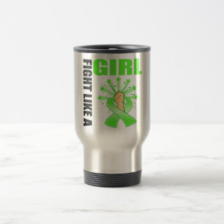 Non-Hodgkin's Lymphoma Victory Fight Like A Girl 15 Oz Stainless Steel Travel Mug