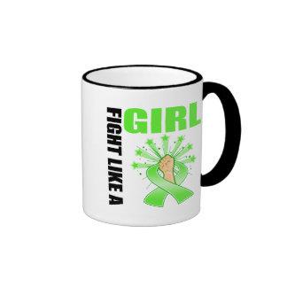 Non-Hodgkin's Lymphoma Victory Fight Like A Girl Ringer Coffee Mug