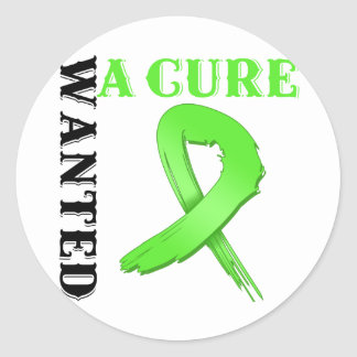 Non-Hodgkins Lymphoma WANTED A CURE Round Stickers