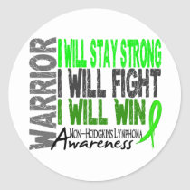 Non-Hodgkins Lymphoma Warrior Classic Round Sticker