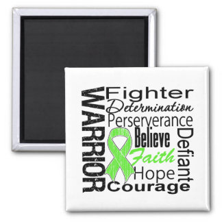 Non Hodgkins Lymphoma Warrior Collage 2 Inch Square Magnet