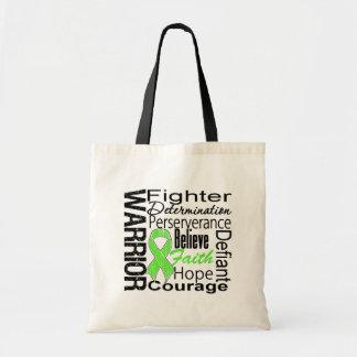 Non Hodgkins Lymphoma Warrior Collage Canvas Bags