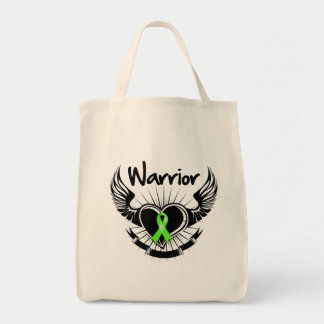 Non-Hodgkins Lymphoma Warrior Fighter Wings Grocery Tote Bag