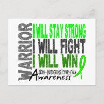 Non-Hodgkins Lymphoma Warrior Postcard