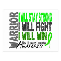Non-Hodgkins Lymphoma Warrior Postcard