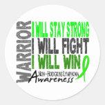 Non-Hodgkins Lymphoma Warrior Classic Round Sticker