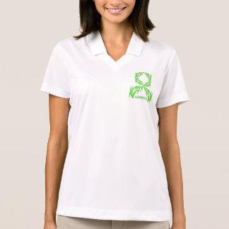 Non-Hodgkins Lymphoma Warrior Tribal Ribbon Polo T-shirt