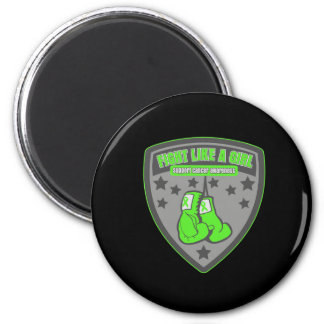 Non-Hodgkins Lymphoma Wear Fight Like A Girl Patch Magnets